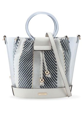 49fe2945d09 ALDO black and white Acyviel Drawstring Bucket Tote Bag 10C03AC600E042GS 1
