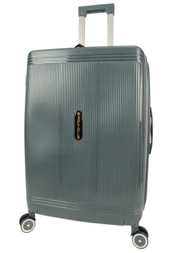 Poly-Club grey Poly-Club 20inch Unbreakable PP Hard Case Trolley Travel Luggage with Anti-theft Zipper- BA9924Grey 4D298AC4B1EECAGS_1