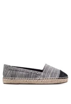【ZALORA】 Frophin 材質拼接編織底懶人鞋