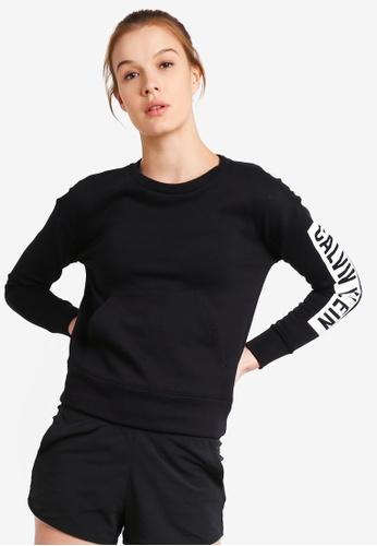 Calvin Klein black Flce Po W Logo Siv Sweatshirt - Calvin Klein Performance 4D481AA0E7C233GS_1