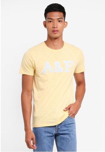 Abercrombie & Fitch yellow Brand Logo T-Shirt 98E0FAAC4051A1GS_1
