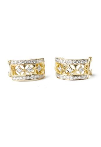 CEBUANA LHUILLIER JEWELRY gold 18 Karat Yellow Gold Earrings With Diamonds C98AAACDA3C21DGS_1
