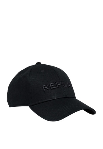 REPLAY black REPLAY CAP WITH BILL IN COTTON E6D55AC635D3EFGS_1