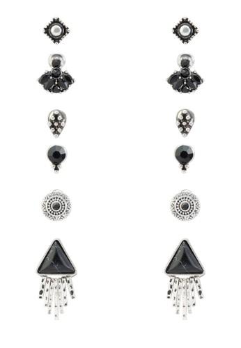 Ailian 六入造型耳環組、 飾品配件、 飾品配件ALDOAilian六入造型耳環組最新折價