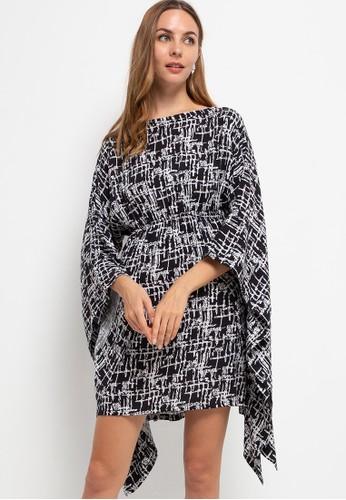 Seven Level black Kimono Loungewear Dress Ren C3569AABD245F1GS_1