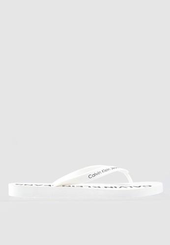 Calvin Klein white Errol Flip Flops 66480SHDBB92B1GS_1