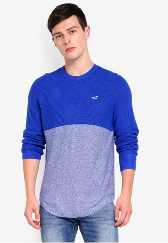 Hollister blue Texture Sweater 6B5F4AAD831756GS_1