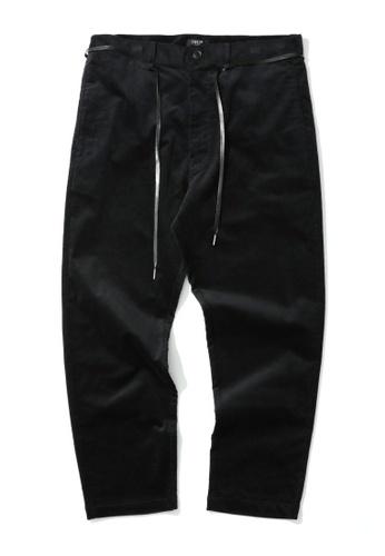 Fivecm black Shoelace belt corduroy pants 28FD7AA417A533GS_1