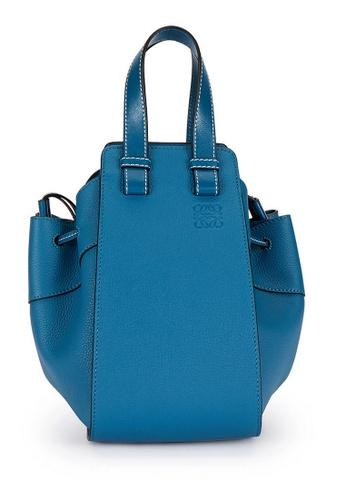 Loewe blue Loewe Small Hammock Drawstring Bag in Dark Lagoon 08734AC378E665GS_1