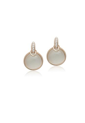 Chomel Gold Simulated Moonstone Drop Stud Earrings 900c9ac172d27egs 1