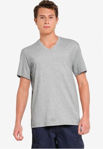 Banana Republic grey Authentic V-Neck T-Shirt F07A1AA3CAFFFBGS_1