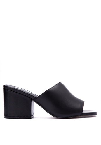 Steve Madden black Dalis Leather Mules ST134SH0JOHXPH_1