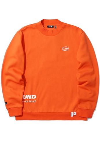 Fivecm orange Logo mock neck sweatshirt 68961AAF89A0A7GS_1