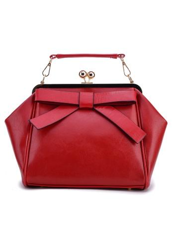 Vince red Korean Inspired Tote Bag VI456AC49TVUMY_1