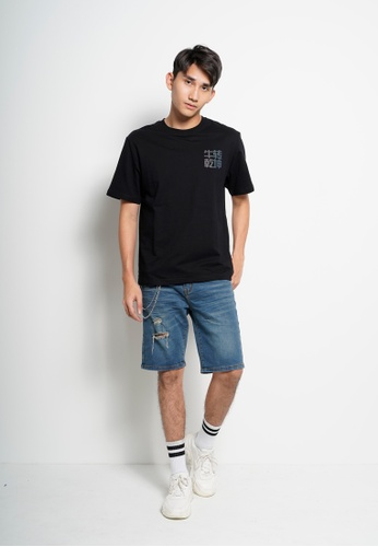Hi Style black Men Oversized Short Sleeve Fashion Tee [Year Of Ox] - D20E2AAA0DFEFAGS_1