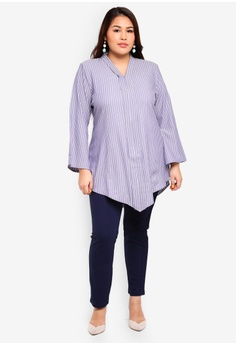 bc5bf113567 Gene Martino Plus Size Stripe Top S  30.90. Sizes XXL
