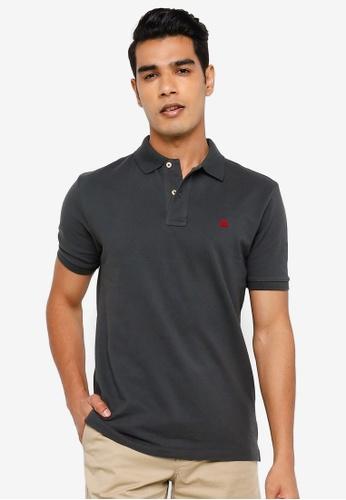 Springfield grey Essential Pique Polo Shirt 63A8CAA2FC0CCCGS_1