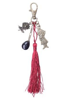 Rose Prince Tassel Bag Charm Key Chain
