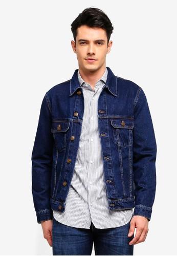 MANGO Man blue Dark Wash Denim Jacket 5B7CBAADA0A7CCGS_1