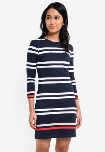 Jack Wills navy Langton Stripe Jersey Dress C638AAA7C2A04DGS_1