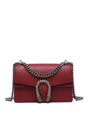 Twenty Eight Shoes red VANSA Fashionable Lock Chain Crossbody Bag VBW-Cb80328 69B17AC28651B8GS_1