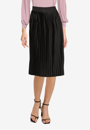 ONLY black Bloom Plisse Skirt 49706AA458B974GS_1