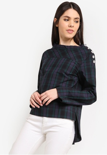 dee742e60c21fa Shop J.Crew Funnelneck Shirt With Jeweled Buttons Online on ZALORA  Philippines