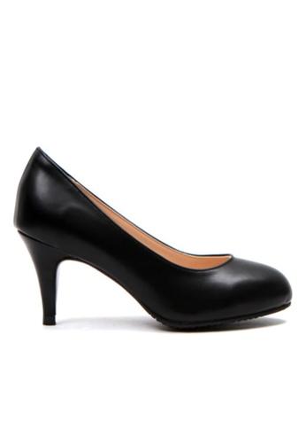 Crystal Korea Fashion 黑色 韓國制舒適百搭粗跟鞋 2291ASHCEDCDA9GS_1