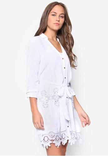 蕾絲拼接襯esprit台灣網頁衫式洋裝, 服飾, 洋裝
