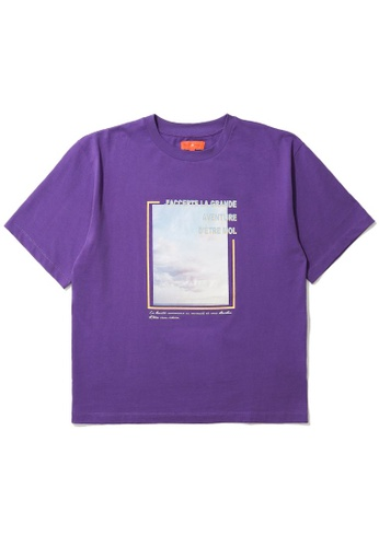 tout à coup purple Graphic box tee 4D166AA7D84BEDGS_1