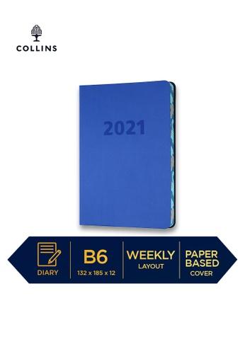 Collins blue Collins Edge Camo ─ 2021 Calendar Year Diary ─ Indigo ─ B6 Week to View 202FCHLE22B545GS_1