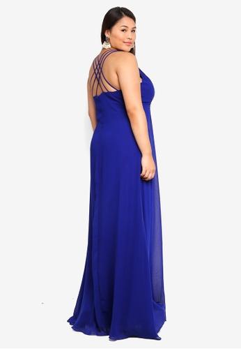 b80ea3df07c Plus Size V Neck Embellished Maxi Dress
