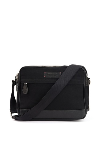 Gnome and Bow black Thyme Small Messenger in Jet Black B53C5ACD9A1C49GS_1