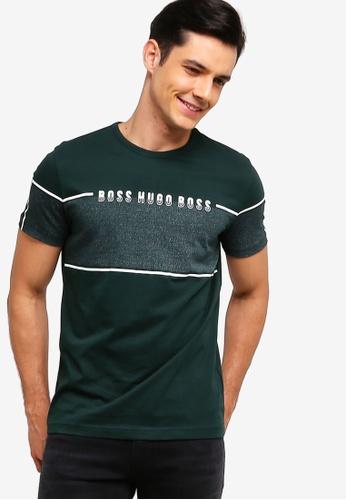 BOSS 綠色 LOGO印花T恤 C28EAAAECCB018GS_1