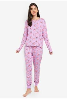 a652db4a9a 25% OFF Chelsea Peers Pomeranian Print Long Pyjamas Set RM 169.00 NOW RM  126.90 Sizes XS S M L XL