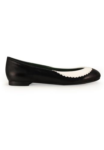 Gripz black Collary Round Toe Ballerina Flats GR357SH0FIKMSG_1