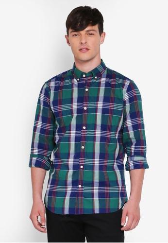 GAP green and multi Fall 18 Standard Poplin Shirt D7656AAF7D711FGS_1