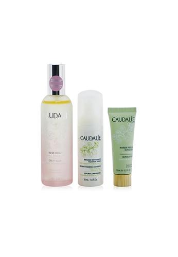 Caudalie CAUDALIE - The Beauty Essentials Set: Beauty Elixir 100ml+ Instant Foaming Cleanser 50ml+ Glycolic Peel 15ml 3pcs E02CDBED08E170GS_1