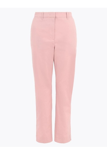 MARKS & SPENCER pink M&S Cotton Rich Straight Leg Chinos 022BAAA70CE3B1GS_1