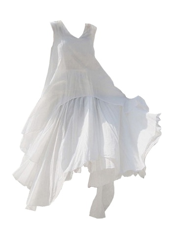Twenty Eight Shoes white VANSA Flowy Ruffled Dress VCW-D0147 2074EAAF8D1A67GS_1
