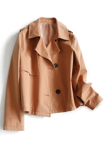 Twenty Eight Shoes orange VANSA  Claasic Cotton Trench Coat  VCW-T0736 7B40CAACF25022GS_1