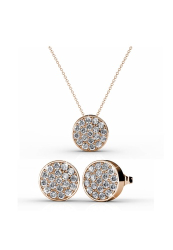 Her Jewellery gold Round Set (Rose Gold) with Premium Grade Crystals from Austria 30AABACDA2D56DGS_1