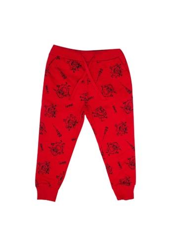LC Waikiki red Jogger Sweatpants 5047FKA2A56157GS_1