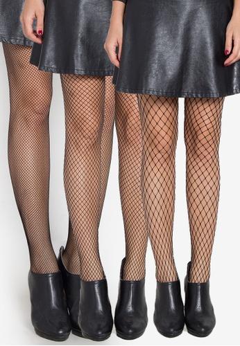 Kats Clothing black 3 Kinds Diamond Panty Hose Net Stockings KA896US0KBGYPH_1