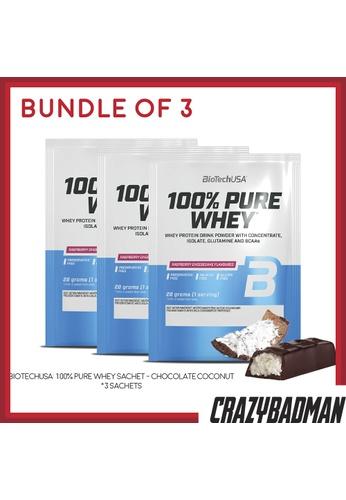 BioTechUSA [Bundle of 3] 100% Pure Whey Sachet - Chocolate Coconut 6DA71ESA3E66E9GS_1