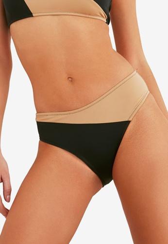 Trendyol black Color Block Bikini Bottom B1893US55C98E9GS_1