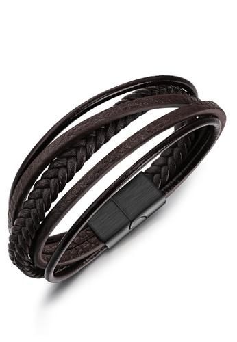 Trendyshop Men's Leather Bracelet 01FB4AC0E9E049GS_1