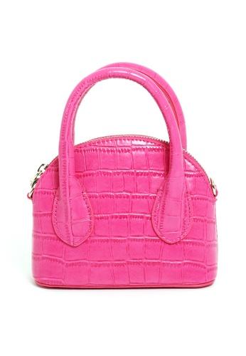 PIMKIE pink Croc Embossed Micro Handbag 2D63CAC703C09DGS_1