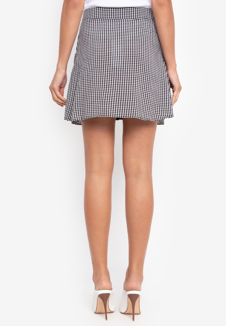 NOBASIC A Grey shape Skirt Mini IwwxrOd7