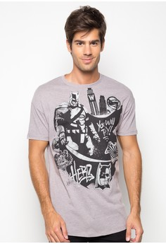 Men's Oversized Graphic Tee with Print and Foil Print